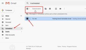जीमेल-रद्द-भेजें में ईमेल कैसे शेड्यूल करें